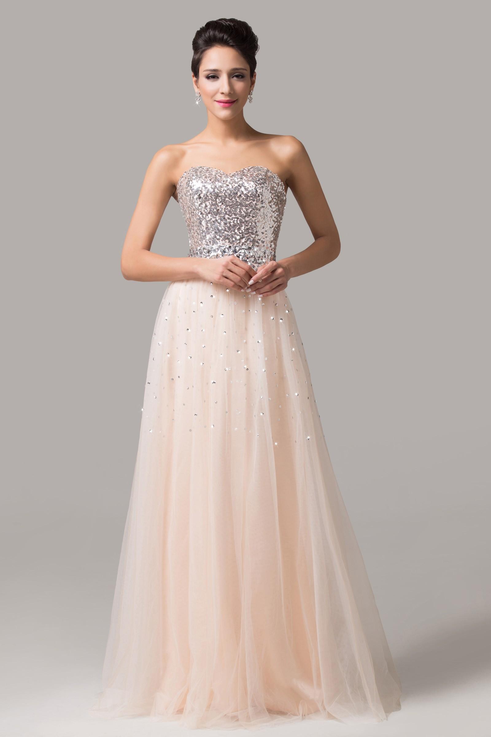 1d7874c2a champagne flitrové plesové šaty na maturitní ples - plesové šaty ...